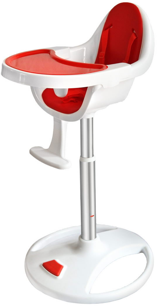 Swivel 360° Highchair - Red-186