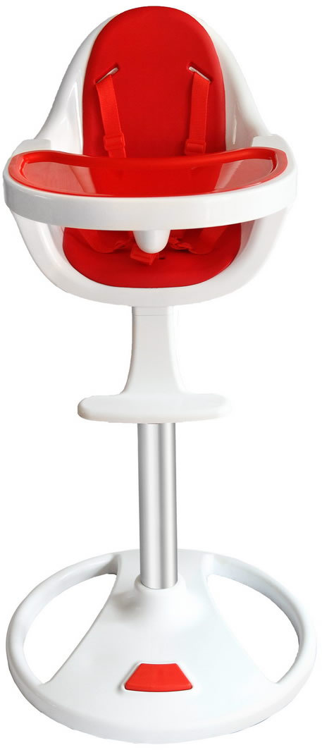 Swivel 360° Highchair - Red-183