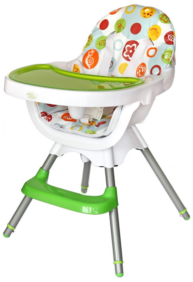 Deluxe 3 In 1 Highchair - Green-178